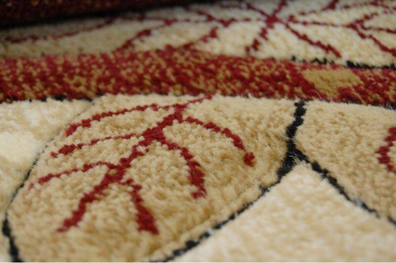 Tapis Kiwi Rouge Pas Pas Pas Cher Heatset Feuilles Petit Medium Large Taille Tapis Sol | Doux Et Léger  300771
