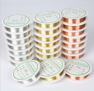 Wholesale Lot Soft Copper Wire//Wire line for DIY Jewelry Making 0.2-0.8mm