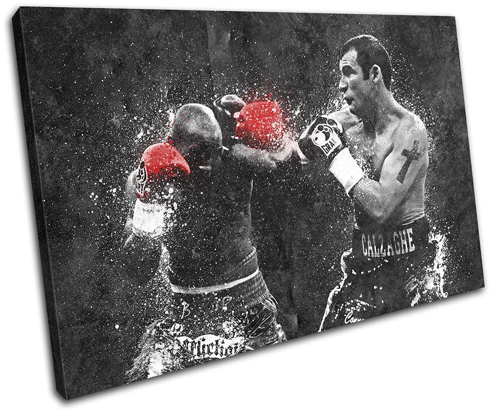 Joe Calzaghe Boxing Grunge Sports SINGLE Leinwand Wand Kunst Bild drucken