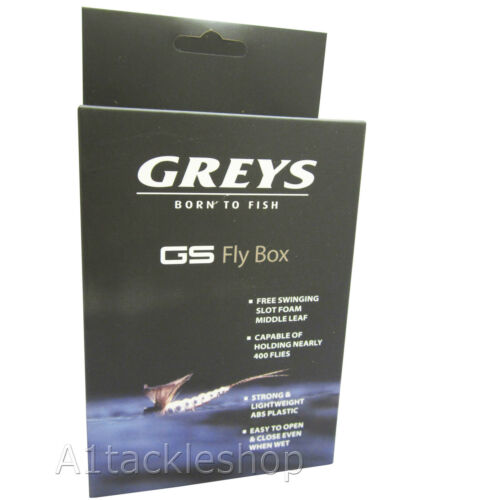 Greys GS Medium Fly Fishing Trout Flies Box GGSFB