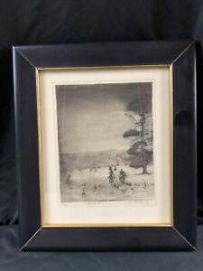 Original-Etching-by-Don-Swann-Limited-Edition-Signed-amp-Numbered-034-The-Hunt-034