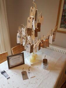 White wedding wishing tree 76cm including wish tags and image is loading white wedding wishing tree 76cm including wish tags junglespirit Images