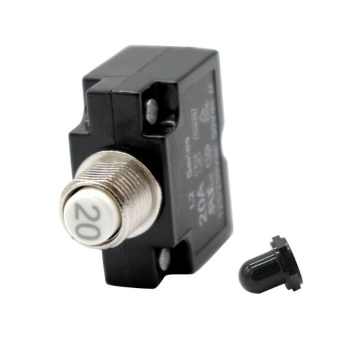 12V-24V 20Amp Push Button Thermal Circuit Breaker Reset Boot Switch