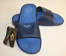 Arena Womens Ladies Blue Navy Rubber Water Slides Flip Flops Shoes Sz 7.5M EU 40