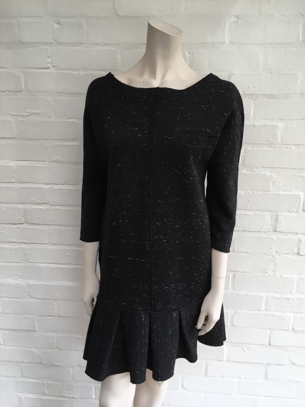 SEA NEW YORK CHARCOAL FLARED SHIFT DRESS SIZE US 4 S SMALL