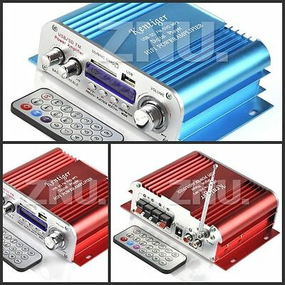 DC 12V 2CH/4CH Mini Hi-Fi Stereo Amplifier Amp mp3 Car Boat Motorcycle 3 Colors