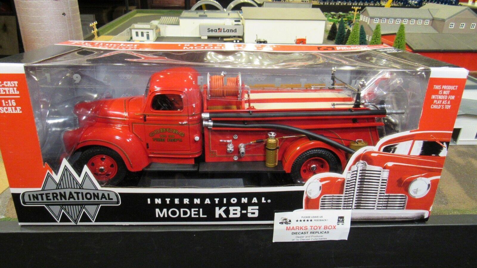 DCP Highway Hwy 61 Coburg  98 IH KB-5 PUMPER FIRE DEPT camion 1 16 Cl