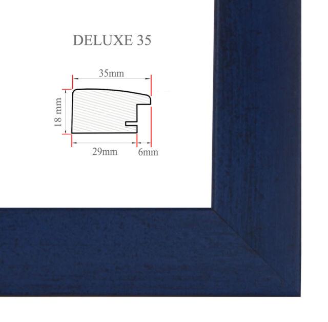 DELUXE35 Bilderrahmen 78x118 cm oder 118x78 cm Foto//Galerie//Posterrahmen