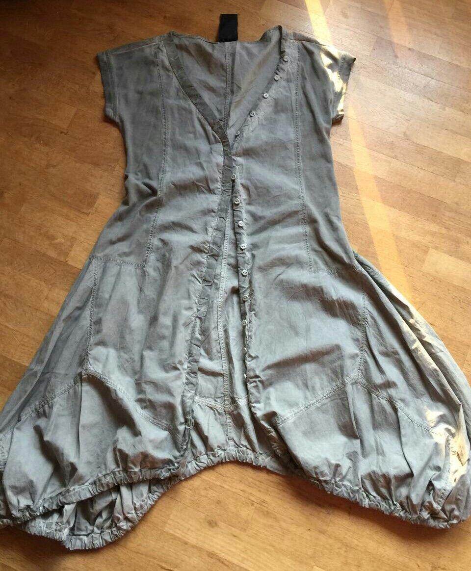 ✿ Rundholz Zipfel Kleid Tunika Gr. S  NEUwertig ✿ Materialmix asymmetrisch