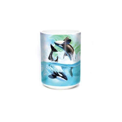 "The Mountain Keramiktasse /""Aquatic Animal Mug Orca Wave/"" 400 ml weiß"