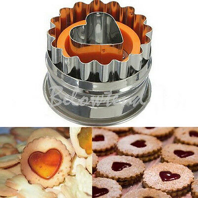 Stainless Cake Biscuit Pastry Cookies Cutter Wave Round Baking Love Heart Mold