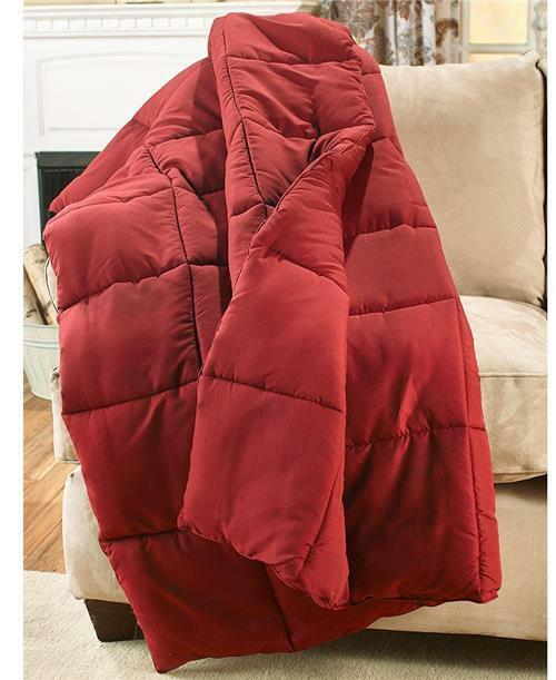 """COZY OVERSIZED 55/""""X70/"""" DOWN FREE HYPOALLERGENIC THROW BLANKET-4 GREAT COLORS!"""