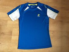 Boys Lotto Football Top blueWhite. Size medium boys.