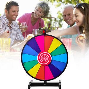 """24"""" Glücksrad Spielzeug Farbe Rad Spiele für Lotteriespiele Wortspiele φ60cm"""