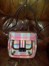 80c022802f Chaps Ralph Lauren Pink Plaid Madras Ladies Women s Shoulder Bag Handbag  Purse