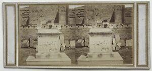 Pompei Italia Foto PL38 Stereo Vintage Albumina c1860