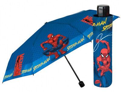 PERLETTI Leicht Kinder Taschenschirm Stockschirm Schirm @MARVEL Spiderman