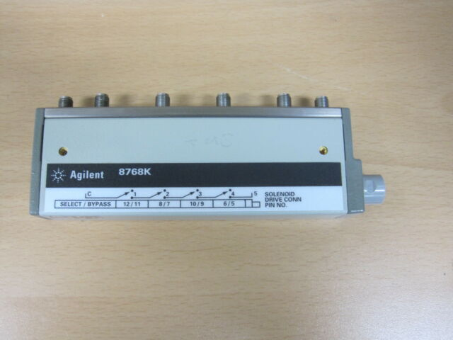 $ HP/Agilent_8768K: Multiport Coaxial Switch, DC to 26.5 GHz, SP5T (Opt.004 011)