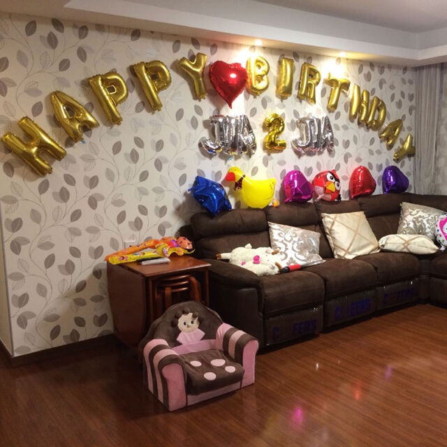 Hot English Letter&Number Foil Balloons Birthday Wedding Party Ball Decoration
