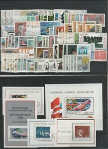 Germany-GDR-vintage-yearset-Yearset-1980-Mint-MNH-complete-Complete