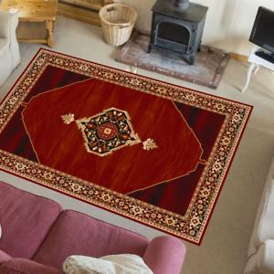 Tapis oriental Persan Laine Tapis 100/% laine vierge orientales uriasz Rouge Rubis