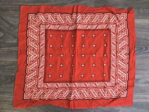 Antique Bandana VTG Wash Fast Color Handkerchief G