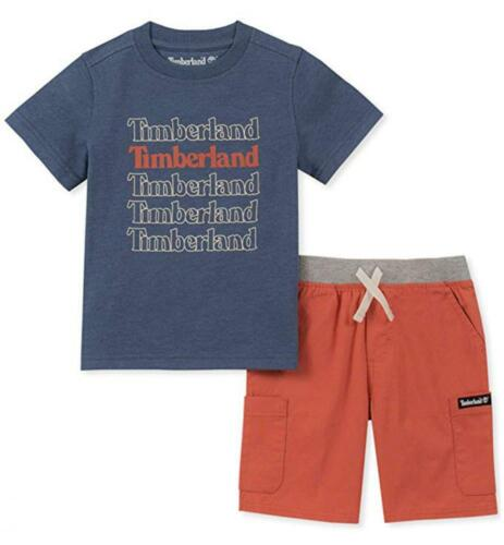 Timberland Infant Boys Heather Blue Top /& Short Set Size 12M 8M 24M $50