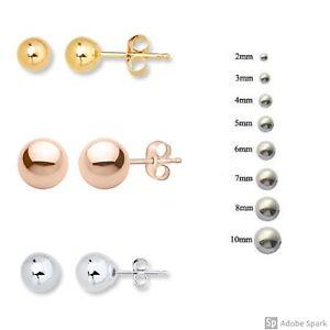 14k Rose Gold Ball Stud Post bébé boucles d/'oreilles 3 mm