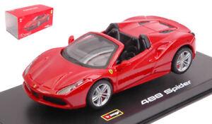 Ferrari 488 Spider 2016 Red Signature Series 1 43 Model Bburago Ebay