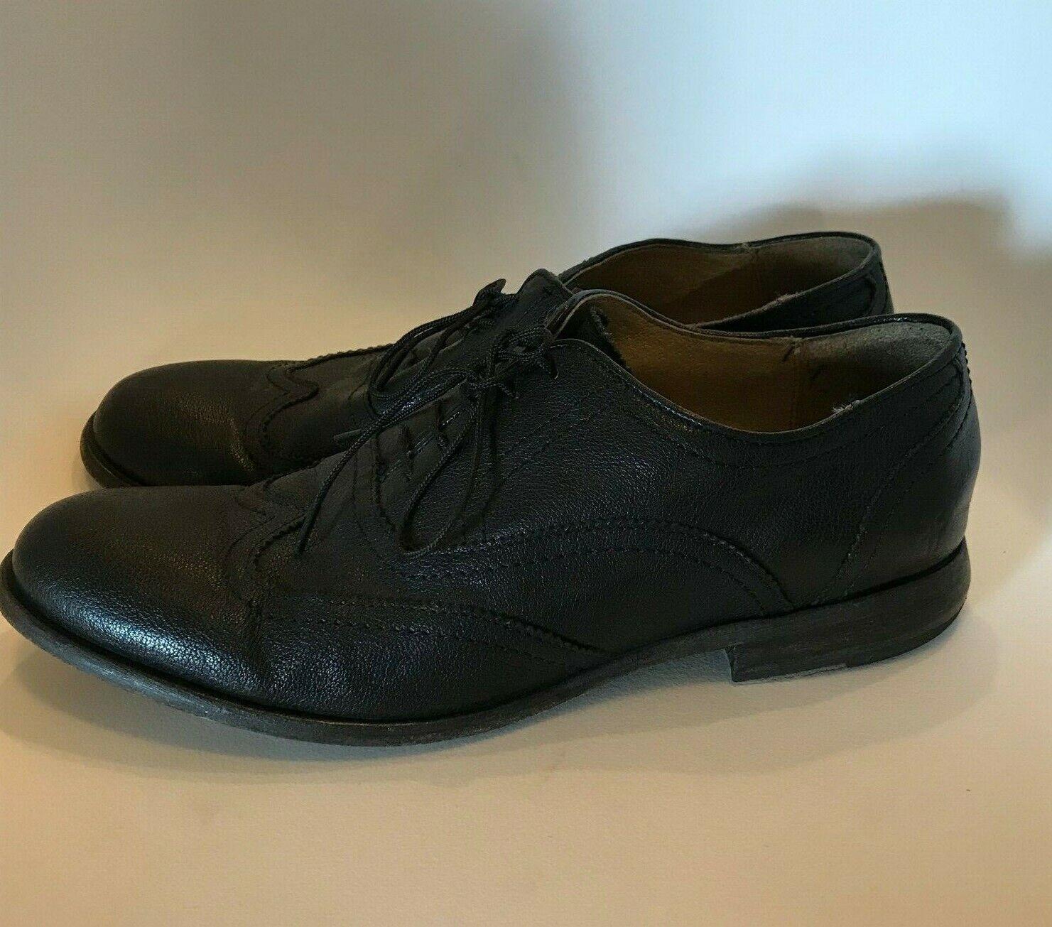 Homme Frye 9.5 Harvey Bout D'Aile Noir Antique en cuir chaussures