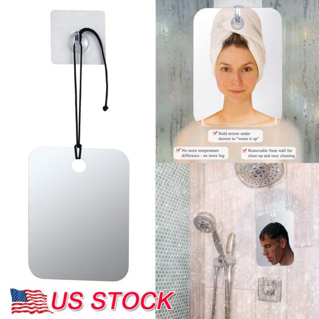 Anti Fog Shower Mirror Bathroom No Fog Shaving Fogless Fog Free Mirror 6.8x5.2/'/'