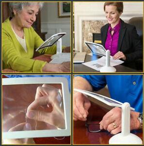 LED-VIEWER-3-fach-Vergroesserung-Leselupe-Lupe-Schreibtisch-Tischlupe-Leselampe