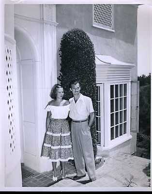 """Zachary Scott & Wife Elaine Original 8x10"""" Photo #J6881"""