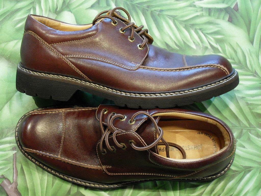 JOHNSTON & MURPHY shoes Burgundy Leather Flex System Casual Oxford Men 9M