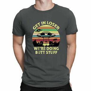 Obtenez-en-perdant-nous-faisons-Butt-Stuff-Alien-Vintage-Noir-Tee-shirt-homme-coton-tee