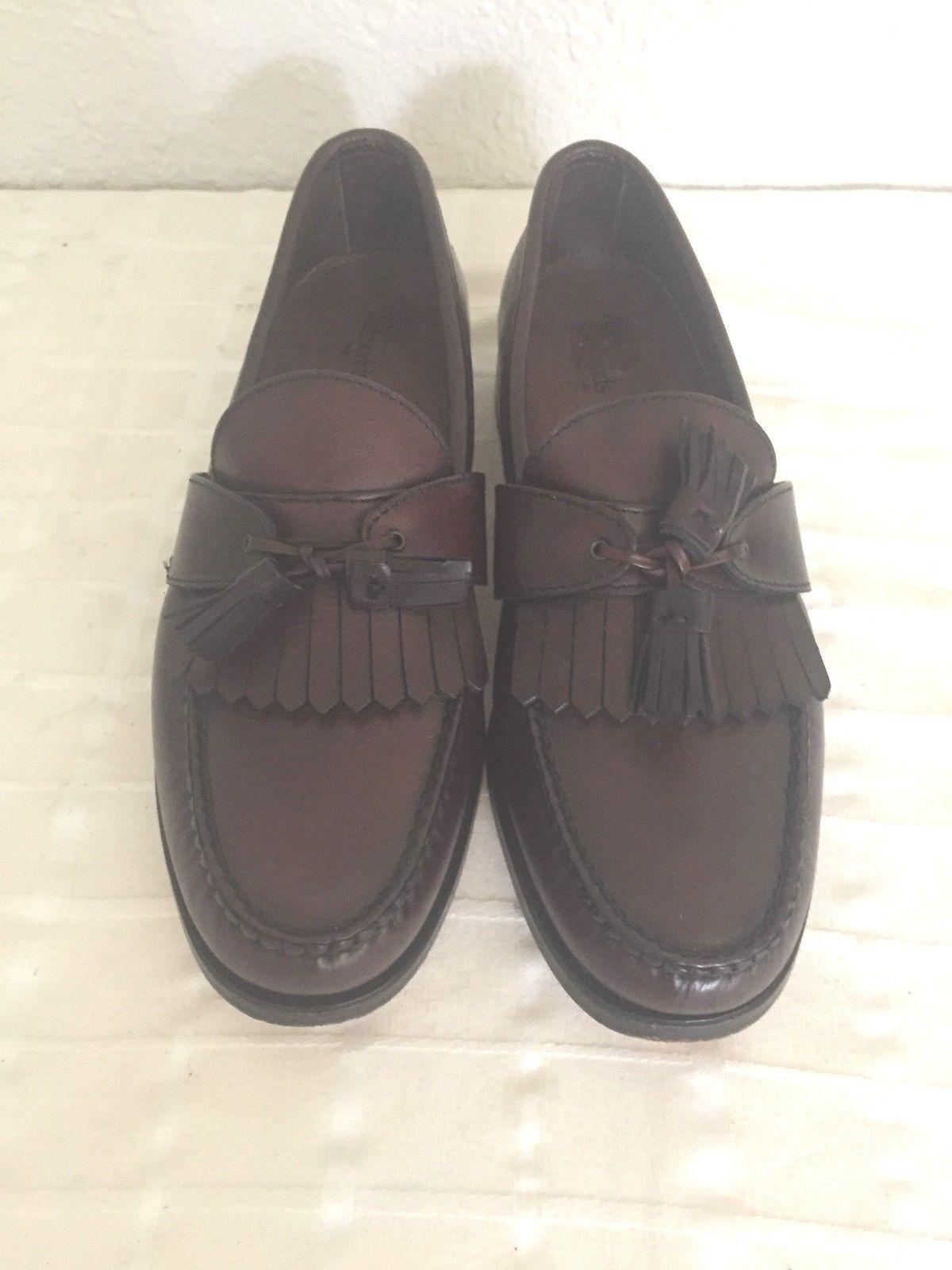 Allen Edmonds Enfield Burgundy Cordovan Kiltie Tassle Men's Loafers 10C USA Made