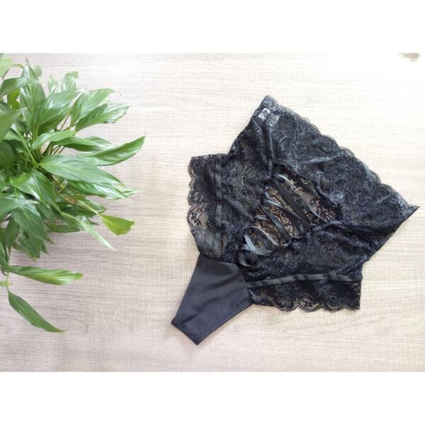 Damen Panties Spitze HighWaist G-String Tanga Unterhose Slips Dessous Unterwäsch