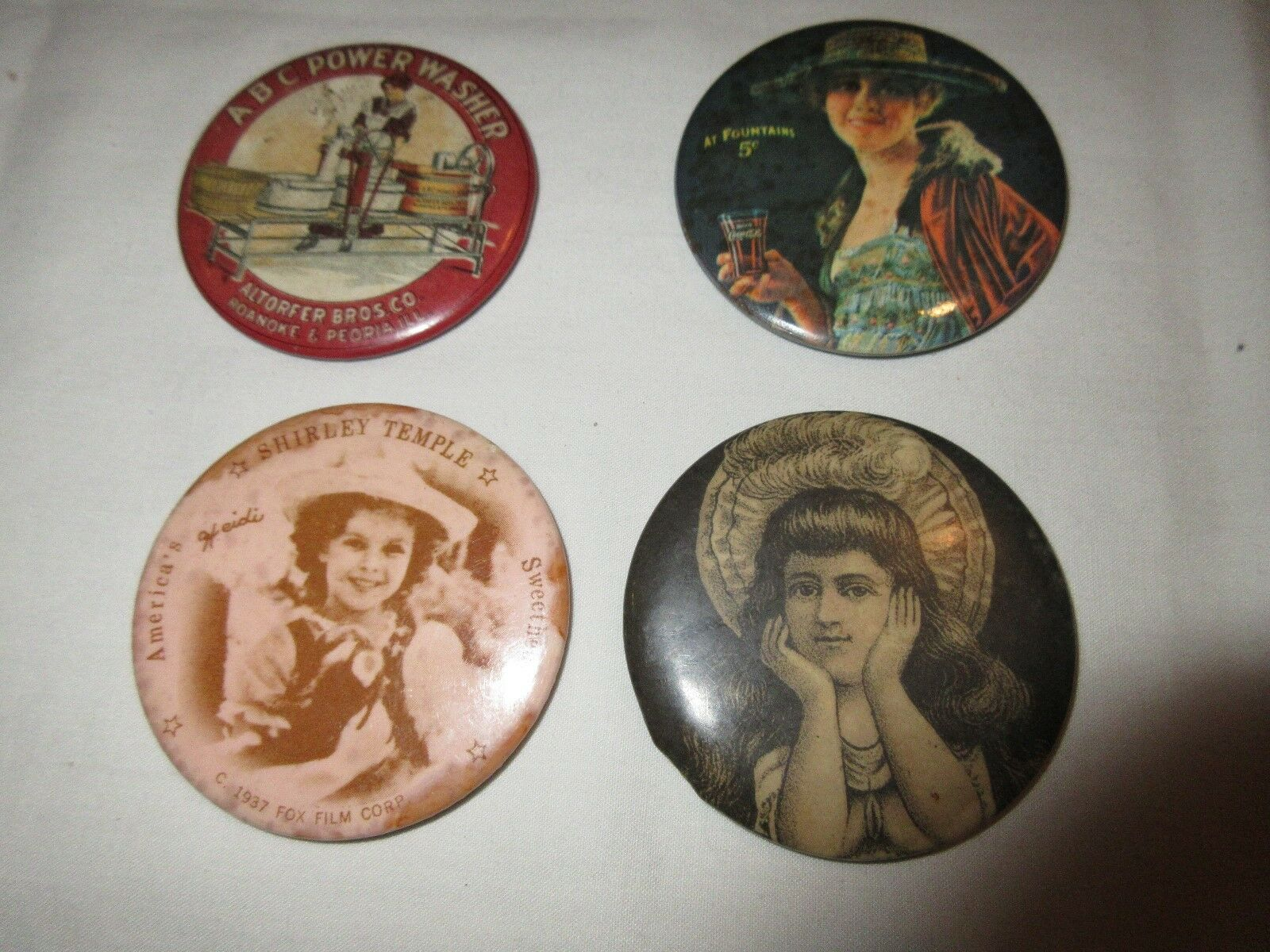 Pocket Mirrors , Mixed Lot of 3 , ANTIQUE ,VINTAGE RARE