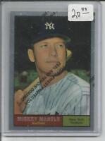 1996 Topps Mantle Finest Refractor #11 Mickey Mantle 1961 Topps MINT CENTERED