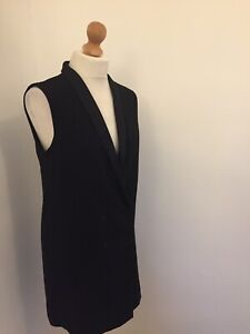 Topshop-Dress-UK-10-Double-Breasted-Jacket-Style-Sleeveless-Party-Cocktail