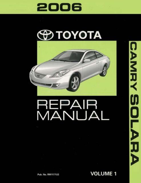 2006 toyota camry solara shop service repair manual volume 1 only ebay rh ebay com 2008 Toyota Camry Manual Toyota Camry Crash