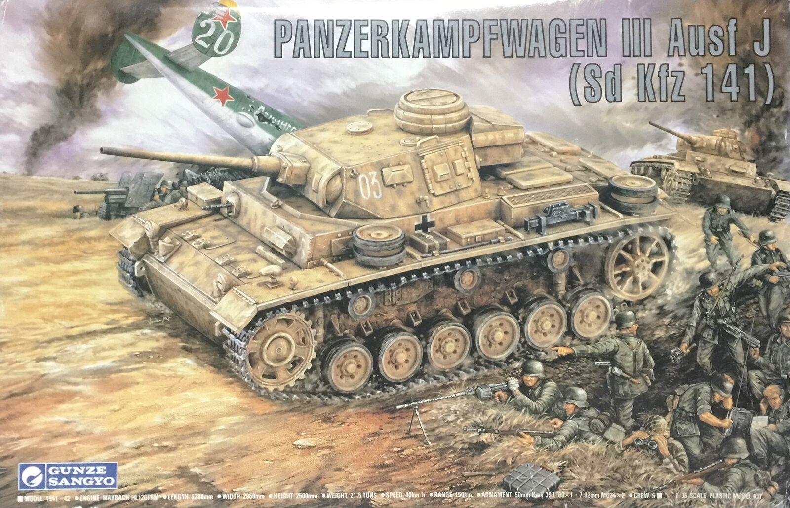 Gunze Sangyo Panzerkampfwagen III Ausf J (Sd Kfz 151) Ref G-764 Escala 1 35