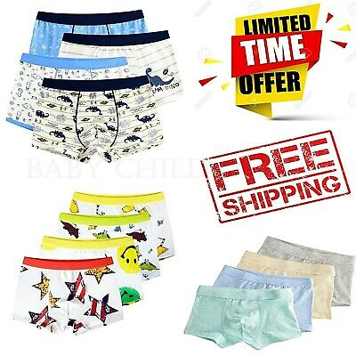 "Vaenait Baby Kids Boys Boxer Brief Underwear Short Set /""Pantie 48style/"" 2T-7T"