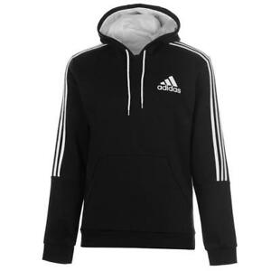 Promo-Codes großartige Qualität echt kaufen Details zu ✅ ADIDAS 3 Stripes Herren Kapuzenpullover Hoody Sweatshirt  Pullover Schwarz Weiß