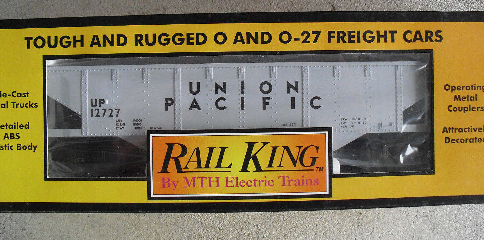 MTH Rail King O Scale Union Pacific Semi Scale Hopper Car 30-7509 NIB