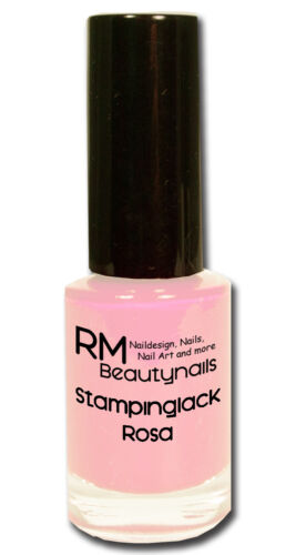Stamping Lack Stempellack 4ml Pink Weiss Schwarz Rot Neon Pastell Konad Moyou