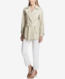 Cotton Latte 75 Bæltet M Blend Sz Coat Trench 159 jn9077 Calvin Klein tXx8nwB