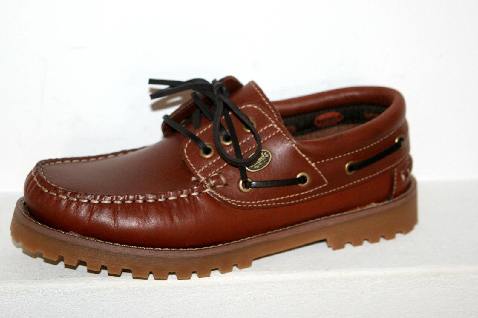 DOCKERS Schuhe Schnürschuhe Segelschuhe Mokassin braun - Reh Damen Herren