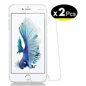 NEW'C Lot de 2, Verre Trempé pour iPhone 6 Plus, 6s Plus, Film Protection écra