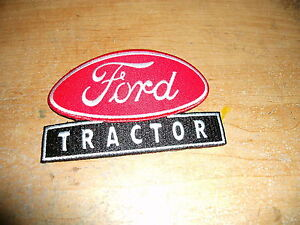 FORD MOTOR COMPANY FORD TRACTORS 8N 9N TRACTOR FORD OVAL LOGO PATCH RED 3 INCH